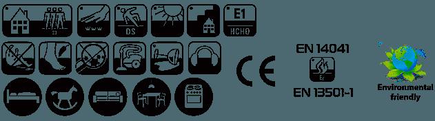 Ковролин Таркетт/Синтелон Сенса термо/войлок (характеристики, фото v1v2)